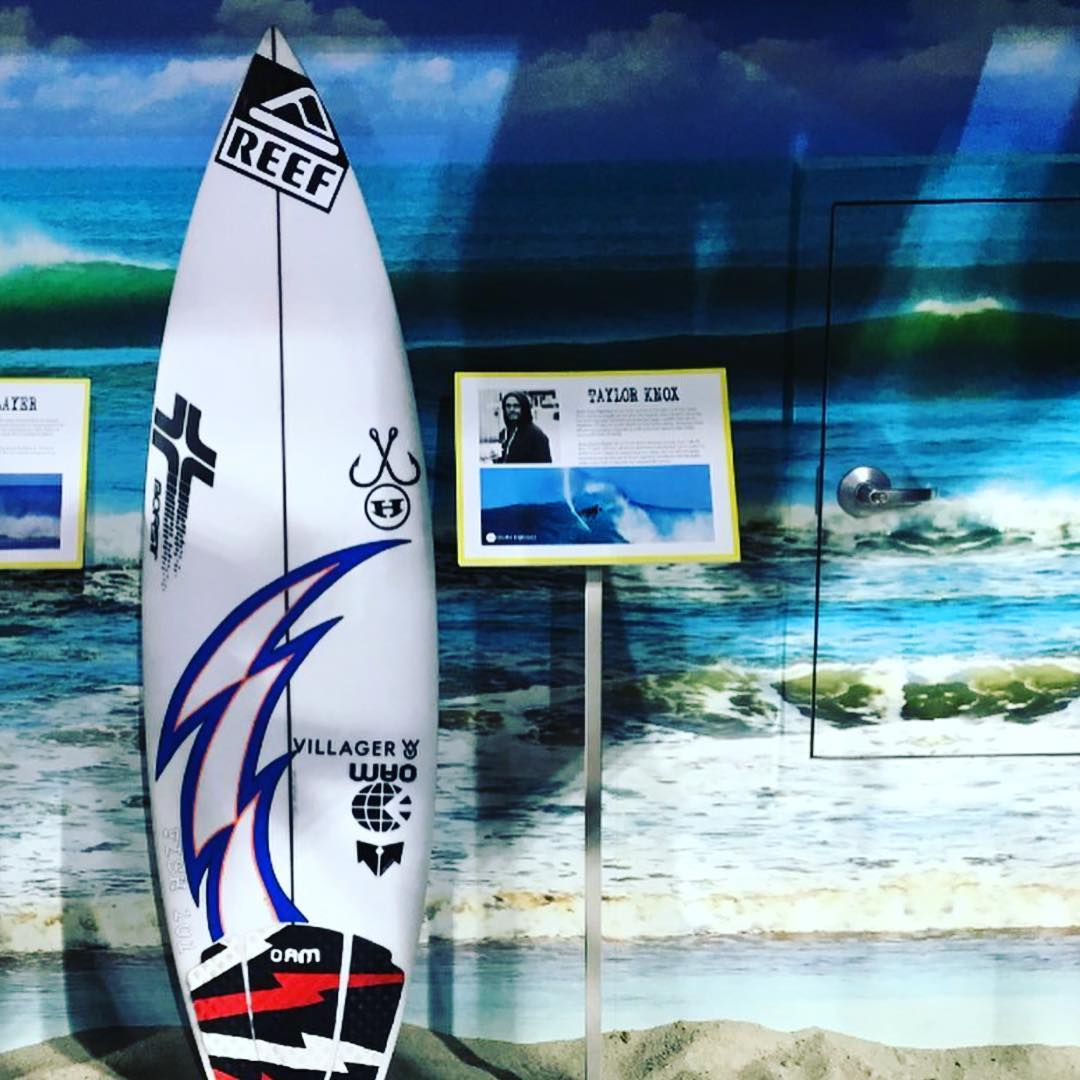 We're stoked to have our very own surf team rider @taylor_knox board featured down at  Petco Park ⚾️ In time for the All Star Game on Tuesday  @chris_borst_designs @reef @onamissionsurf @sundiegoboardshops @fish101restaurant @hovensurf @villagergoods ...