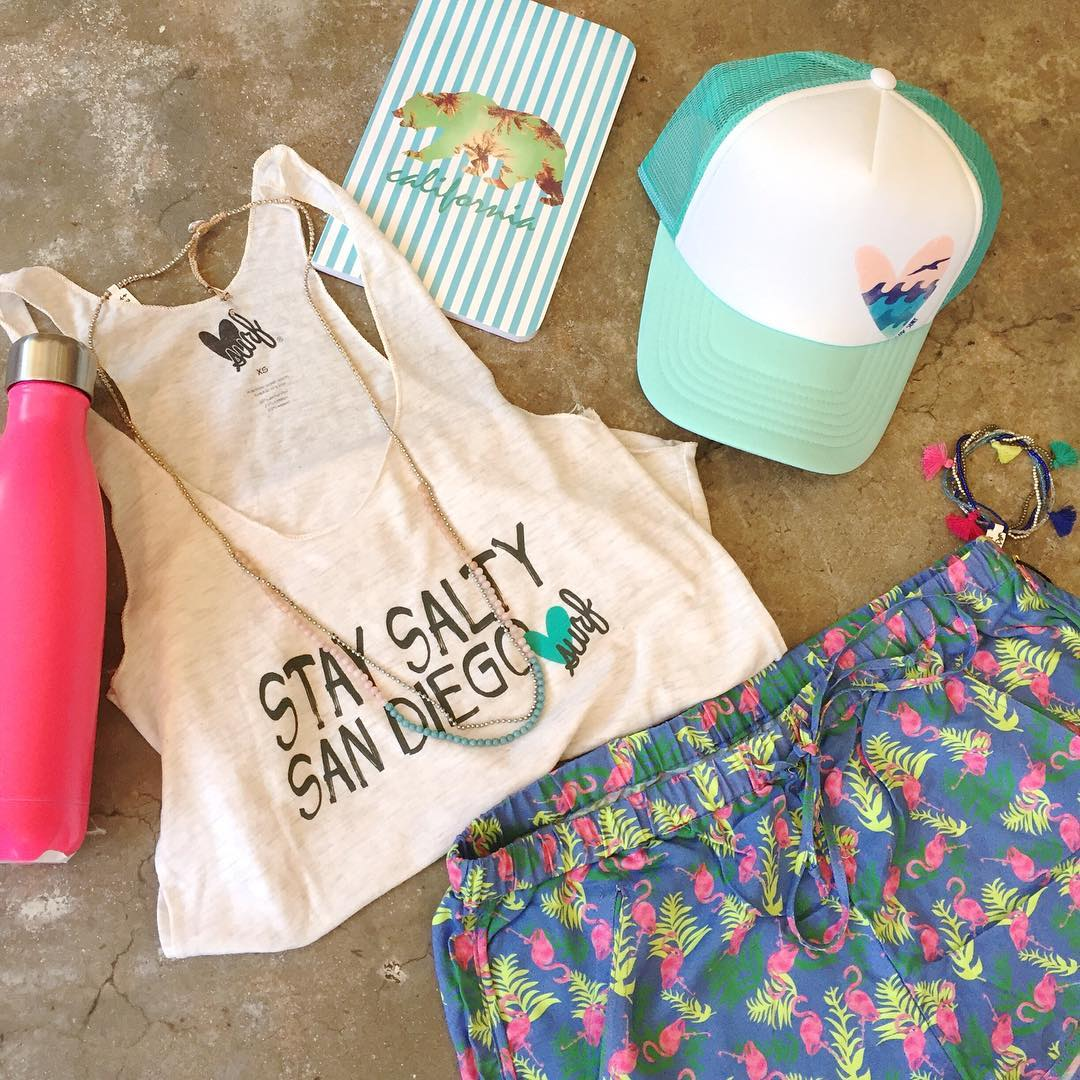 @swellbottle @bali_queen Is the perfect pair to stay hydrated and look steezy for the summer | stay salty San Diego | new arrivals @thesurflifepb #salty #sandiego #shoplocal #surf #heart #luvsurf #flamigo #shorts #swell
