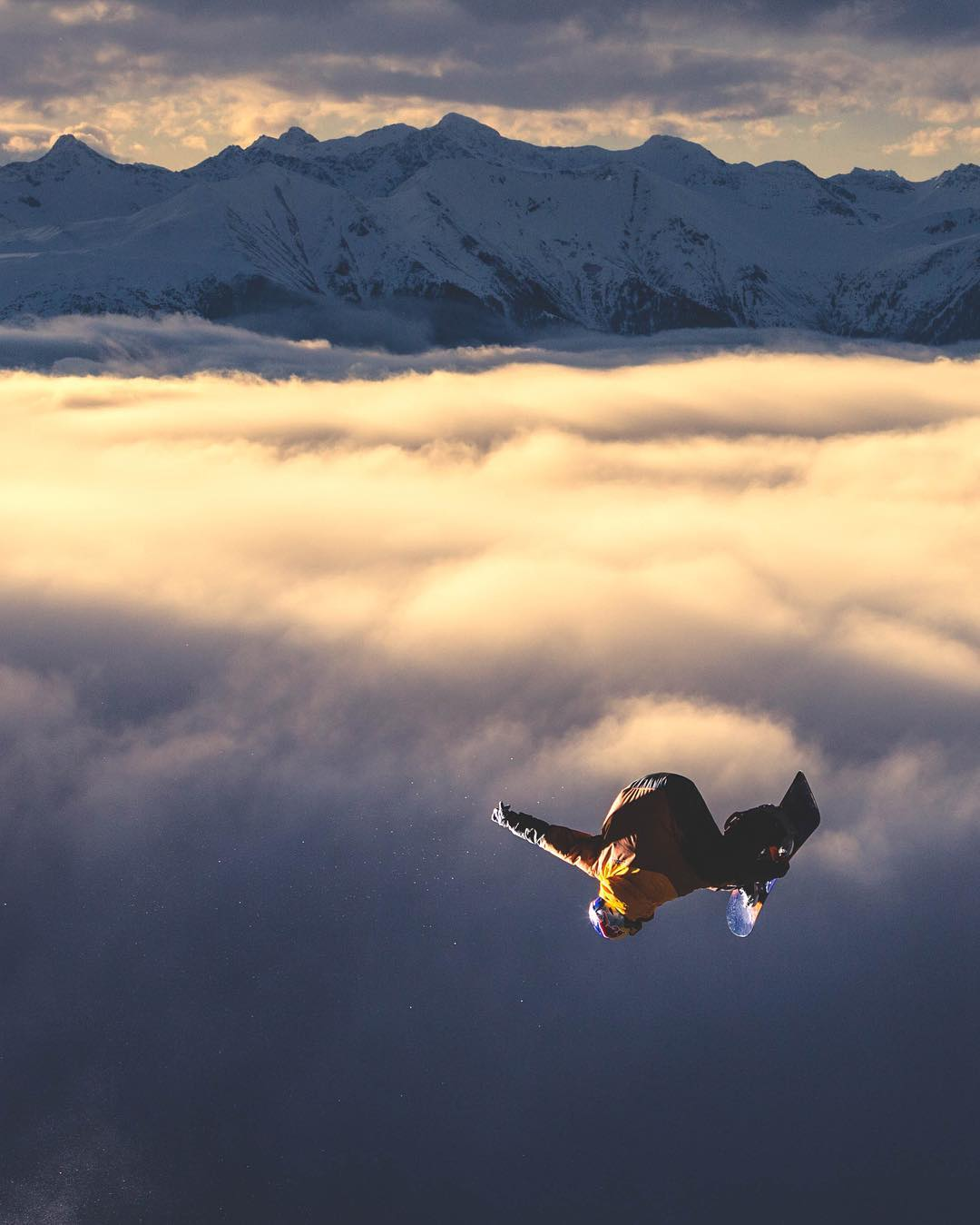 Snowboarding? More like cloudboarding.
