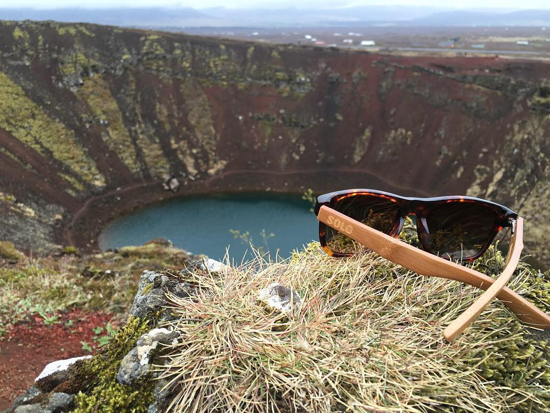 Chelsea Peterson's #Fiji SOLOs at Kerid Crater in Iceland