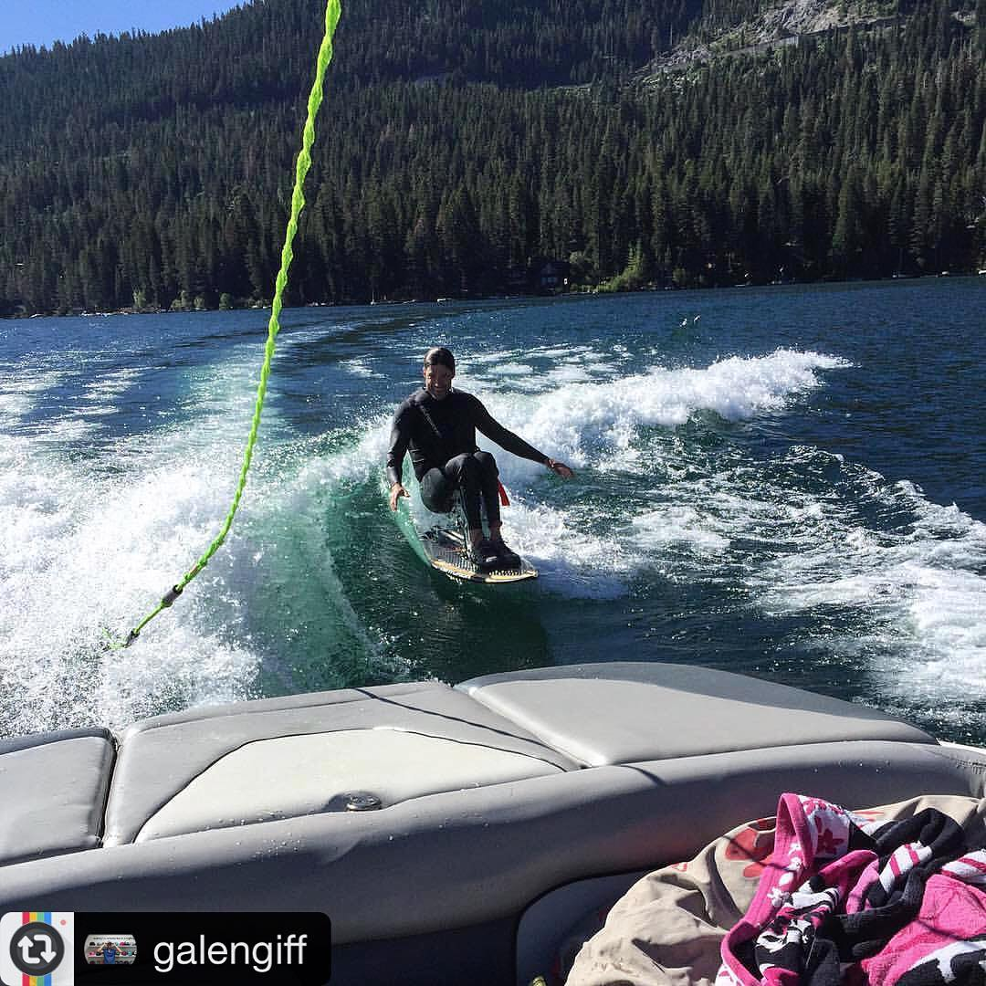 #Repost from international #LoveLeader, #BigTruck's #MaddestHatter, and master of all things super stoked, @galengiff: this was a #FunFirst moment on the #CenturionEnzo from yesterday morning's sunrise session on #DonnerLake