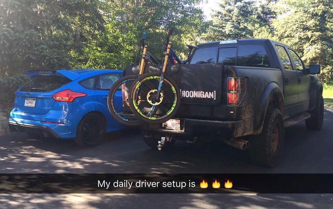 Yep. #FordFocusRS #FordRaptor #dailydrivers