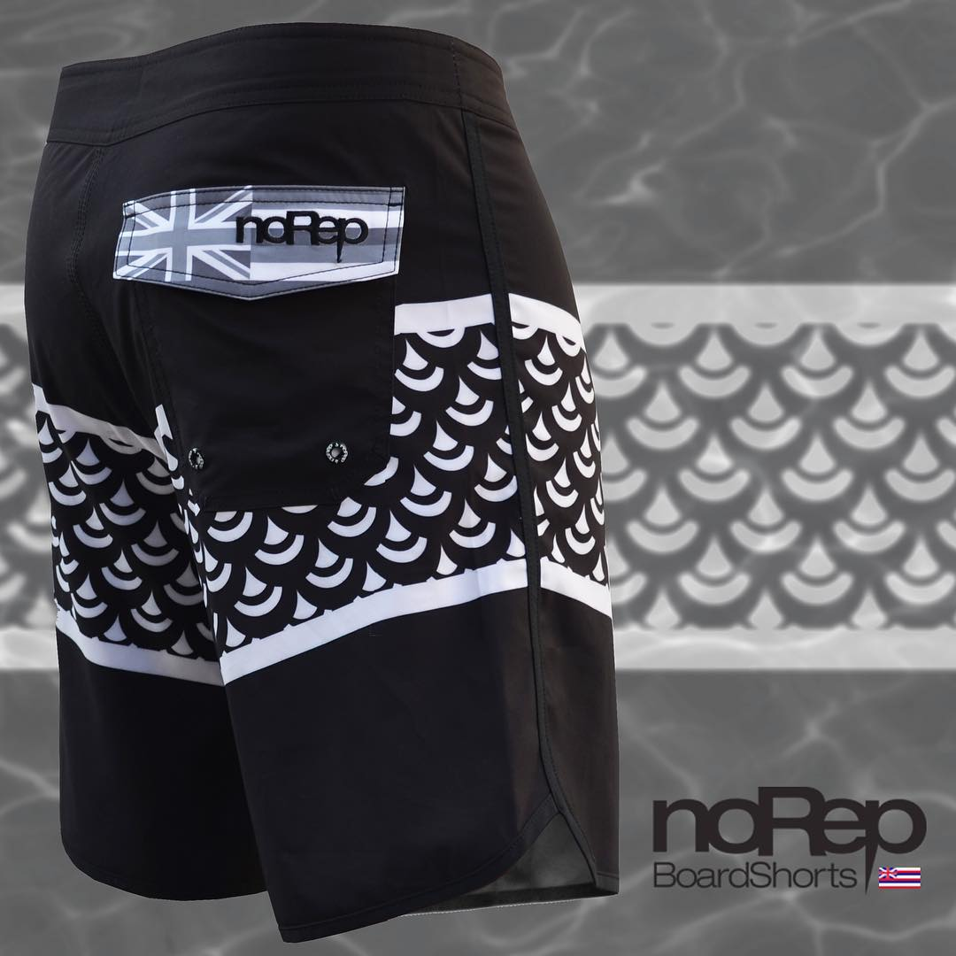 The Scales boardshorts | Designed by our own Team Manager @ezrarod, these shorts were made to harness the energy of the Pacific Ocean and represent our love & respect for the ocean. Get 'em today at noRepboardshorts.com! #inspiredboardshorts
