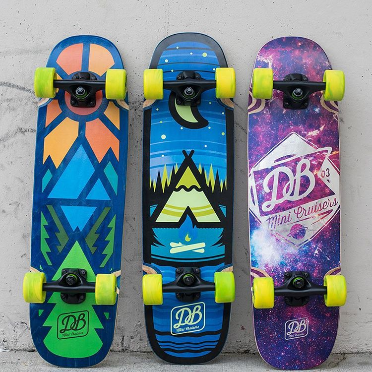 Take advantage of summer on our DB Mini Cruisers available in 5 styles!  #dbmini #dbskateboards #dashboards #dblongboards #skateboard #summer #pnw #goskate