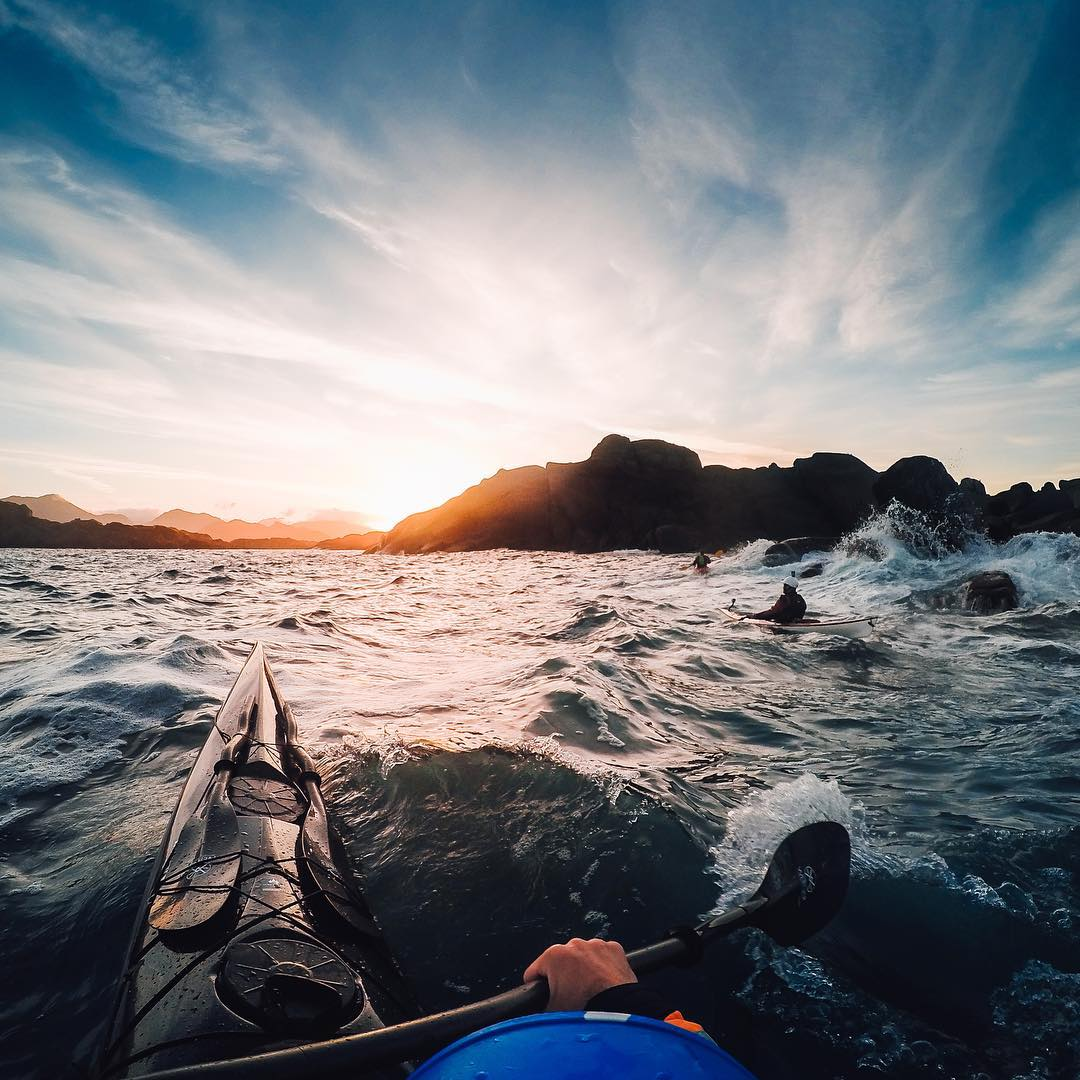 Photo of the Day! #GoProAwards recipient @tfbergen does it again! We're in love with his still water photography, so seeing him brave some choppy waters to capture this banger was amazing.  Keep up the great work Tomasz! #GoPro #Kayak #Norway...