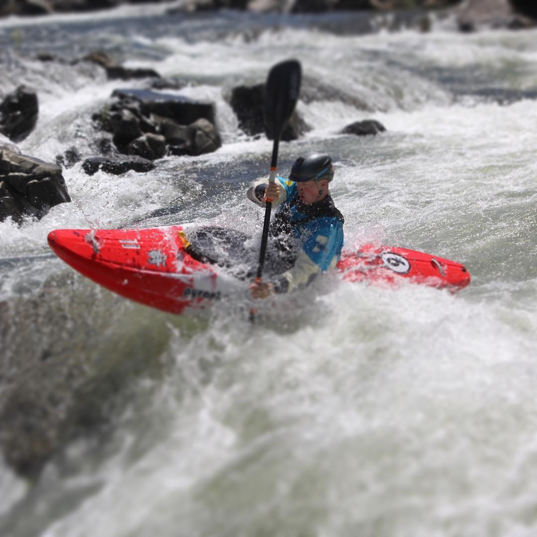 @pete_delosa boofing through Trouble Maker on the South Fork American. #cuzrockshurt #shredready