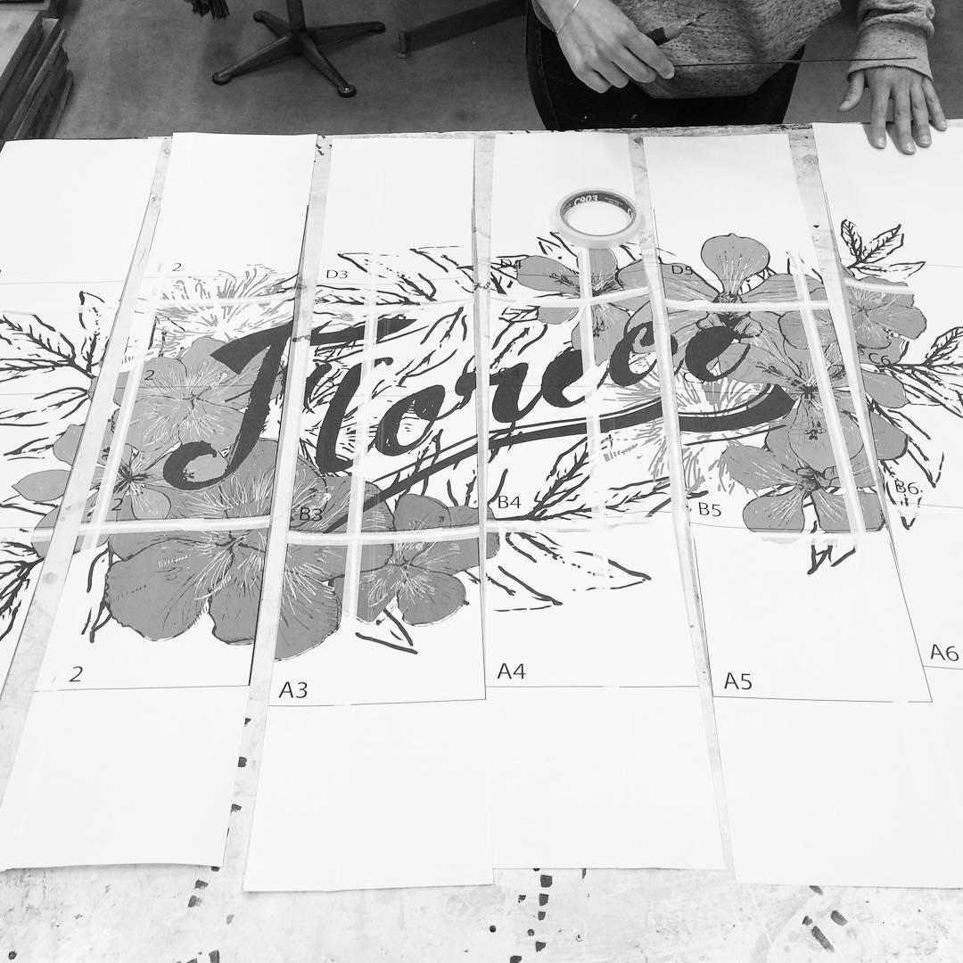 Florece donde se elige! #darte #boceto #sketch #mural