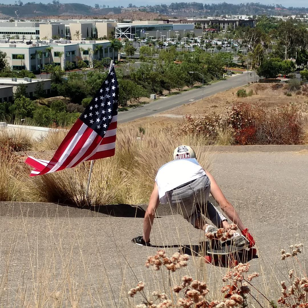 @_sam_bfc aka Big Smooth is back! Fully recovered and shredding again.  Here he is dipping into the American flag left at the 4th of July race last week. Way to show off those Stars and Stripes.