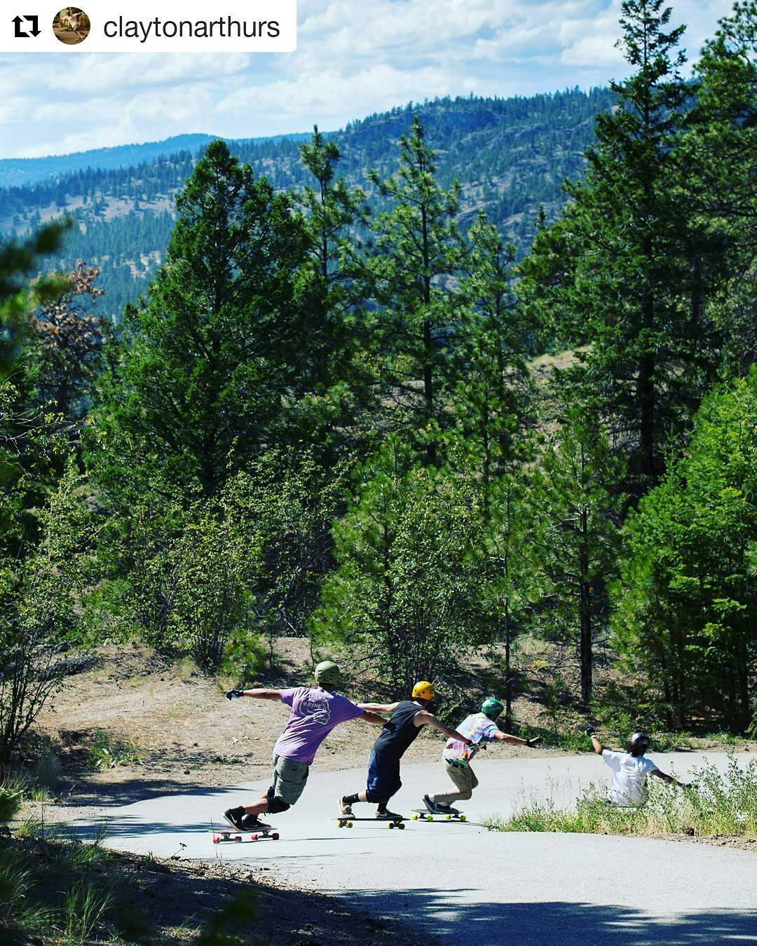 The giant was slain again at this year's freeride. For the few days in the year it is legal to ride this road, we make the most of it. A run with @claytonarthurs and the standup crew at #giantsheadfreeride  #longboarding #slide #rayne...