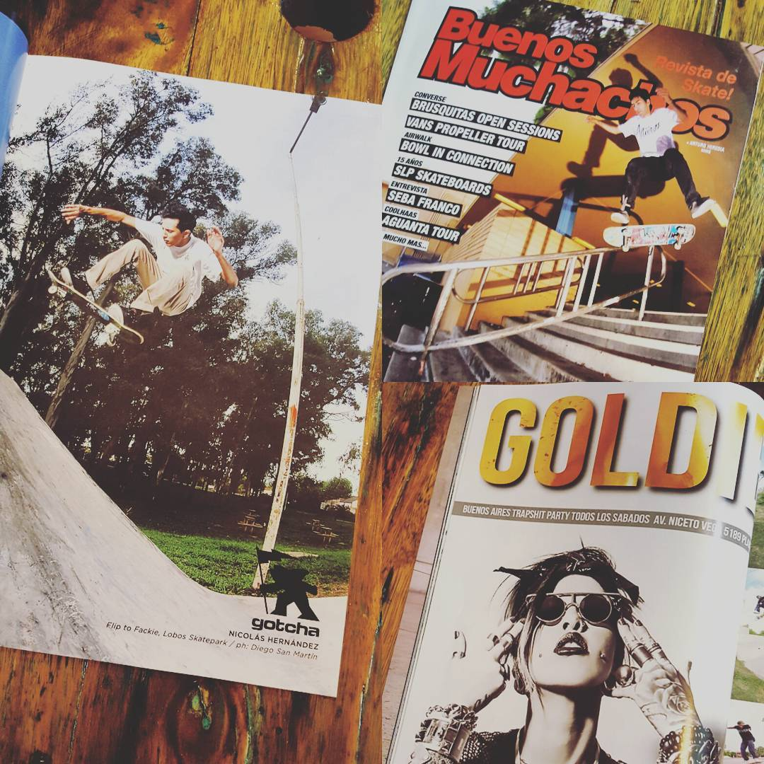 Ya esta en la calle la Nueva @revista_buenos_muchachos chek! Chek! chek! ⚠  #gotcha #buenosmuchachos #GOLDIE