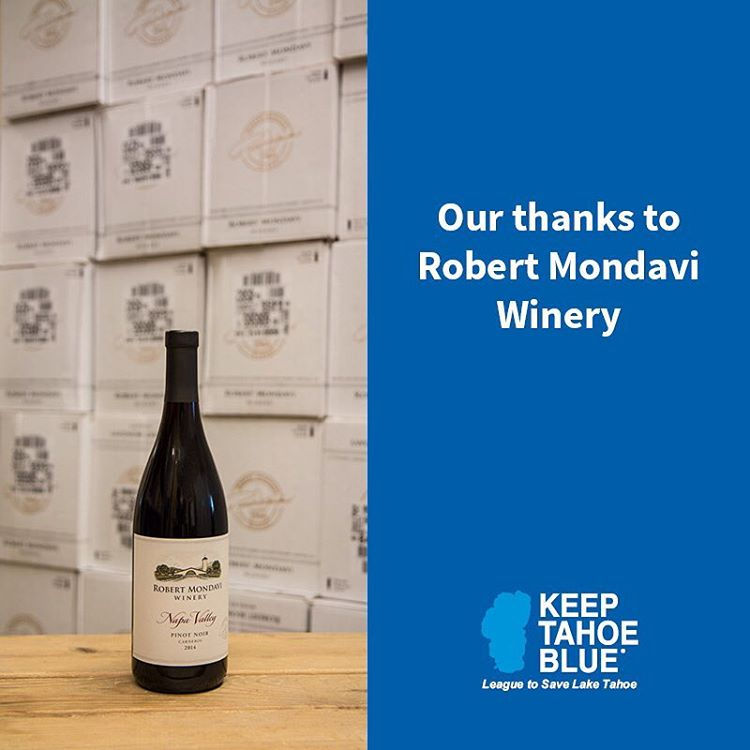Many thanks to Robert Mondavi Winery and Constellation Brands for their generous contribution to the League!  We're delighted to be able to share Mondavi's incredible wines at upcoming select League events to help Keep Tahoe Blue!