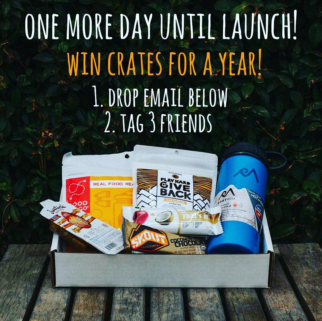 Hey guys! We are currently working on a partnership with @hikercrate to be featured in their monthly subscription boxes! Check out their page and follow the instructions on their post to win a free subscription for a year!! It's a great way to sample...
