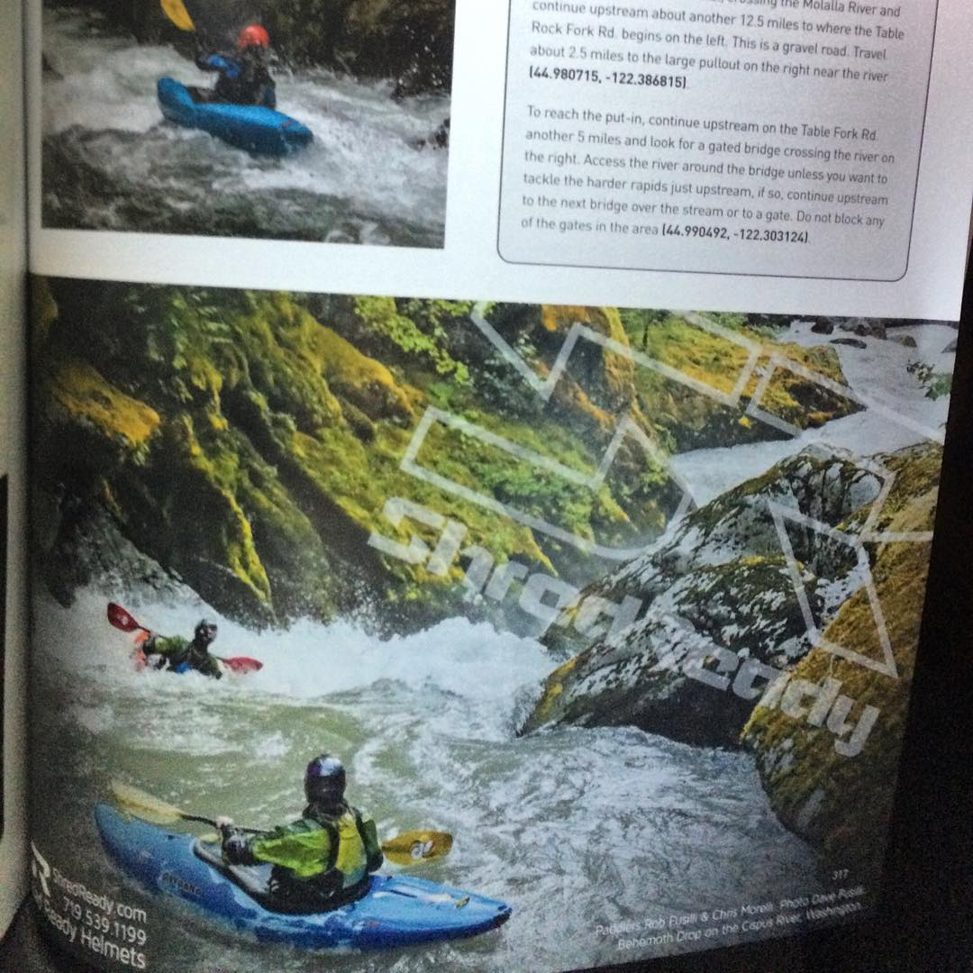 If you haven't checked out the new Northwest Guide book it's worth a look. Amazing information and photos to get you to your style of whitewater kayaking or SUP! #shredready #cuzrockshurt