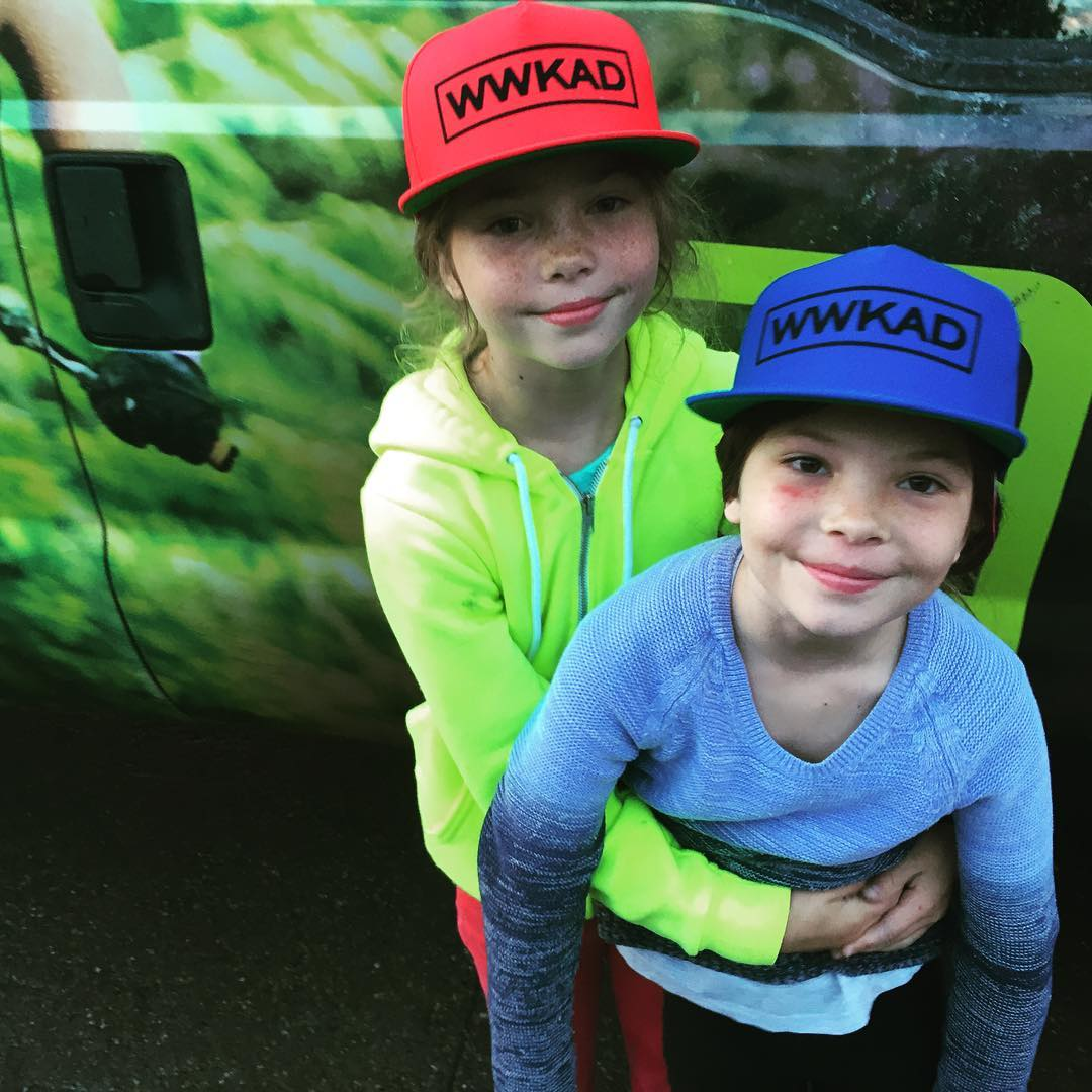 Kaia and Capri from @campofchampions rocking their custom WWKAD (What Would Ken Achenbach Do) A7CO snapbacks. When in doubt, just ask Ken. He's done more for snowboarding than most people ever will. #campofchampions #avalon7 #liveactivated...