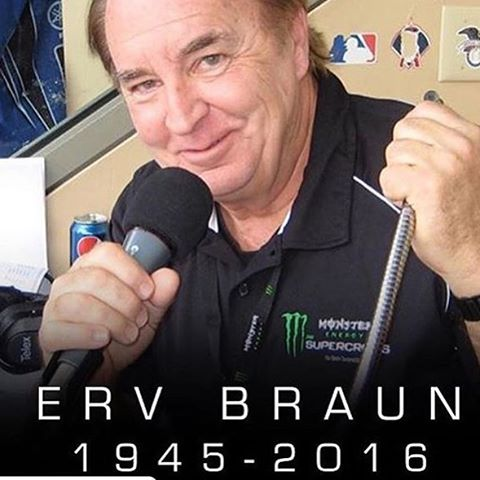 I'm sorry to hear the news. Erv announced when I raced minis. I raced with his kids .  I hope he goes into the motorcycle hall of fame. Dedicated his entire life to the sport of #moto . #respect #rip #motorcyclehalloffame