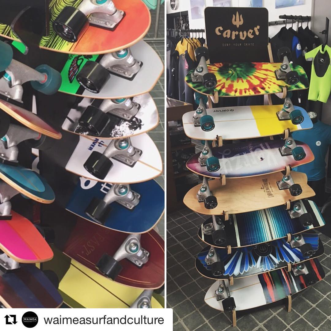 #Repost @waimeasurfandculture (via @repostapp) ・・・ Carver Surf Skates are back in stock, all models available • Time to shred! // @carverskate @carver_skateboards