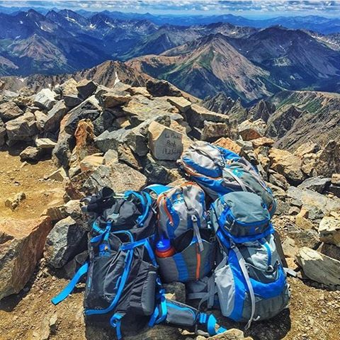I think it's safe to say @abenaquista is a supporter of MHM. This shot on top of La Plata Peak. #MHMgear #PacksElevated #StacksOfPacks