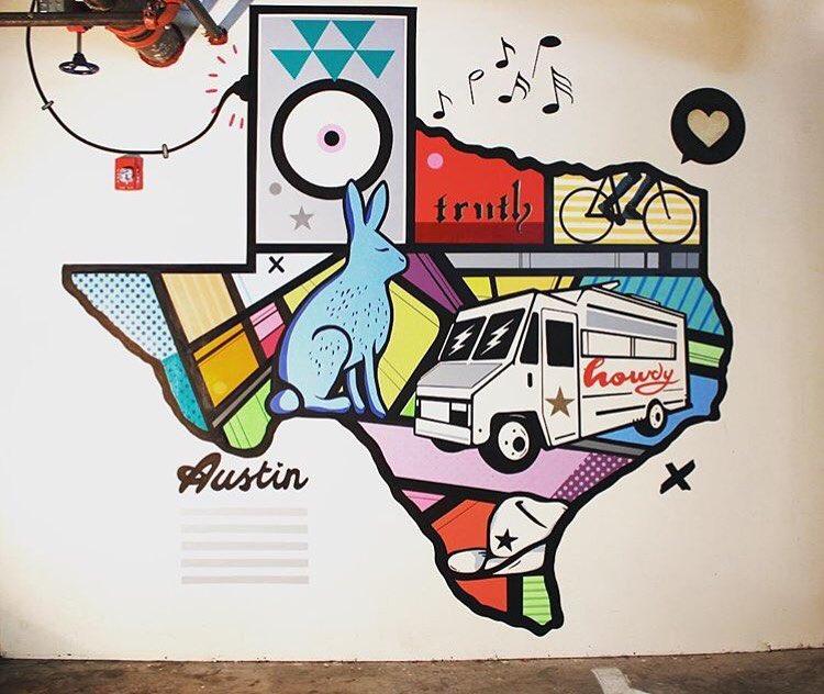 @mikejohnstonartist • • #ATX #Austintx #texas #tx #spratx #truth #mural #art