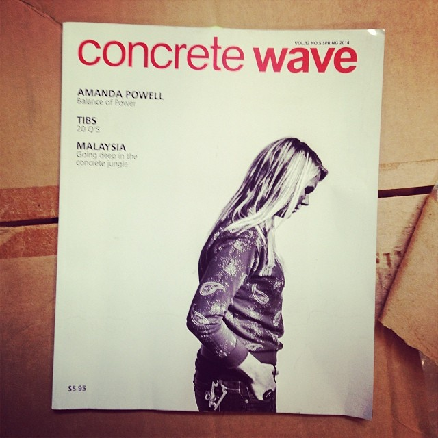 Congrats to @AMA ndapowellskate for landing the cover of the new and improved @concretewavemag . Amanda wears the S1 Lifer helmet #fullinterview #amandapowell @rivieraskateboards @paristrucks #s1helmets