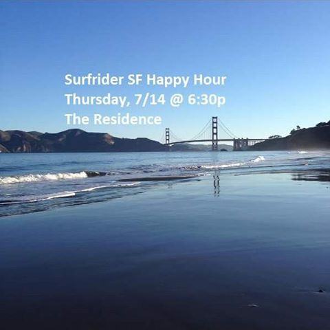 Come out to the Surfrider SF Happy Hour at The Residence this Thursday!