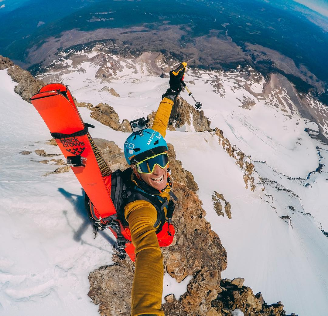 Photo of the Day! @matthiasgiraud has a big reason to smile after summiting #MtHood...its time for some #summerskiing! #GoPro #GoProTravel #SuperFrenchie #Oregon #⛷