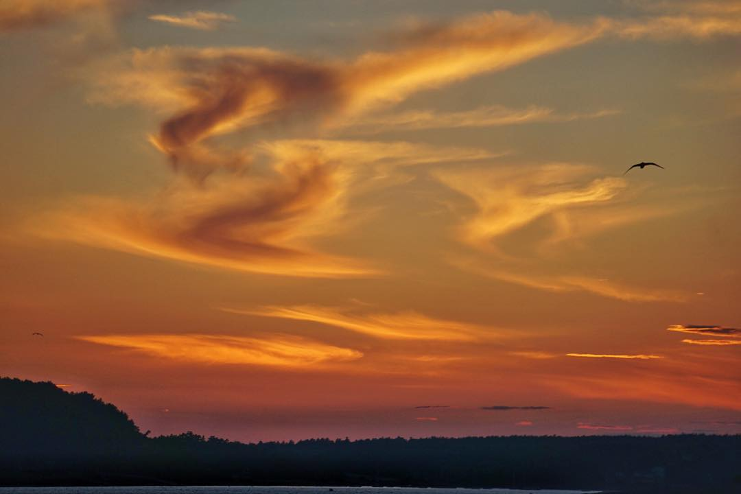 I'm always nice to have a few clouds around at sunset!  It really helps the whole scene pop!  Last night in Bar Harbor was pretty top notch! #nofilter #mainepics #sonya6000 #optoutside #acadianationalpark #barharbor #sunset