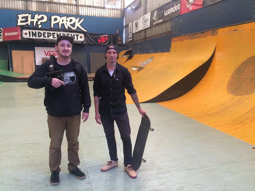 En la filmación de las cinco pruebas favoritas de @nashprosty para @ehparkparadise_skatepark  Pronto el gran clip por @fedeimbriano en las redes