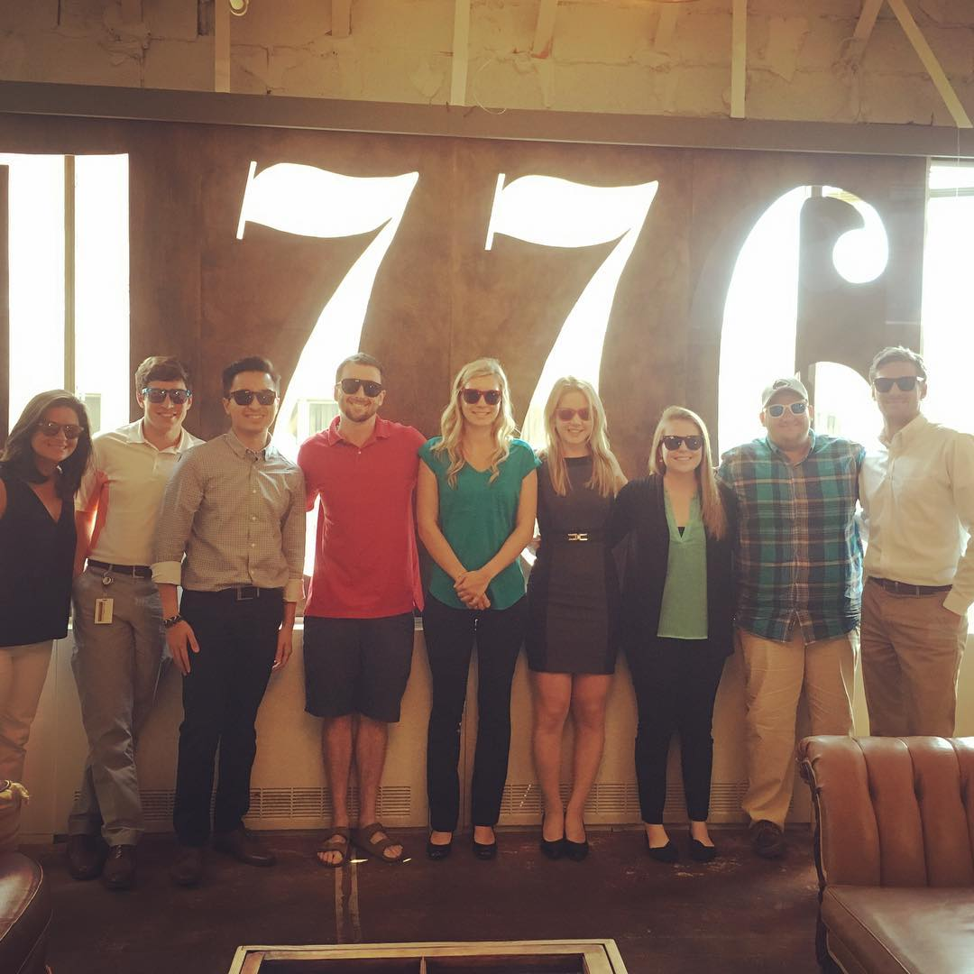 Great day with @aronsononcampus #aronson #accounting at @1776vc to share #entrepreneur #experience with their #interns #Waveborn #sunglasses #always #be #learning