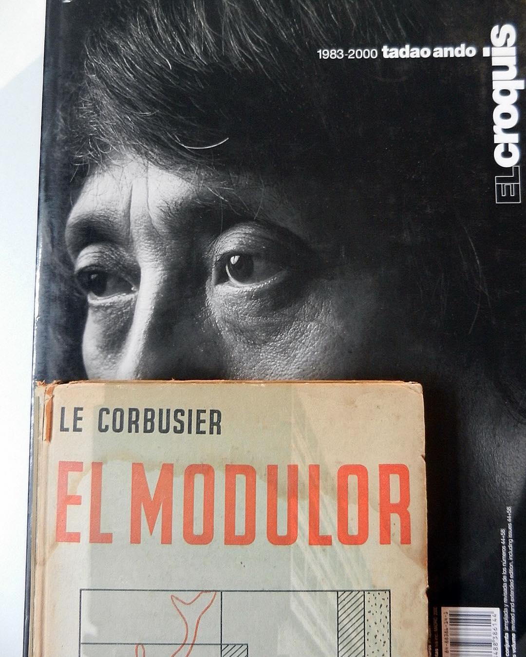 #Libros #inspiración #Pitimini #tadaoando @tadao.ando @el_croquis  #lecorbusier #elmodulor #arquitectura #design #diseño