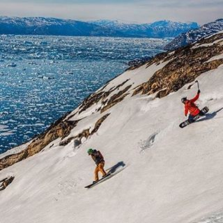 #A7Renegade crew @sethwescott and @robkingwill shredding some rad in Greenland this spring with @llbean and @warrenmillerent. Life is about the journey, and sometimes the journey takes you to epic places like this! Photo: @arztm #avalon7 #liveactivated...