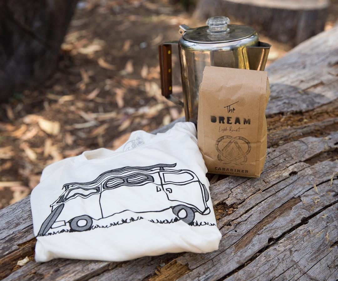 ~ Giveaway ~  There's nothing better then having your morning coffee outside, surrounded by nature.  So we've teamed up with our good friend Erik from @carabinercoffee to giveaway a bag of his tasty brew along with our Adventure tee for your next...