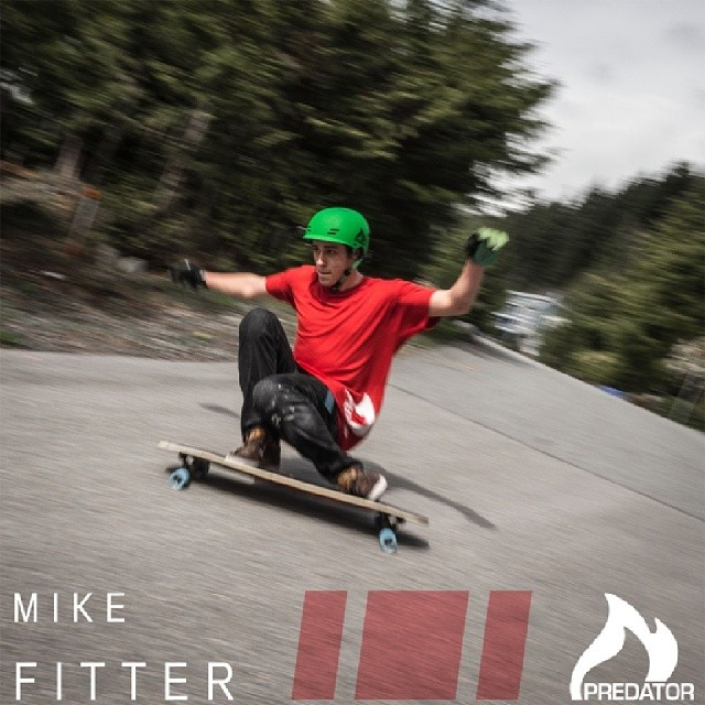 @Mikefitter, welcome to the Predator Helmets family, we're pumped to have you on board!  Mike also rides for @raynelongboards ,@skoatrucks and @abec11wheels  #FR7 #mikefitterheavyhitter #vancouverlocal