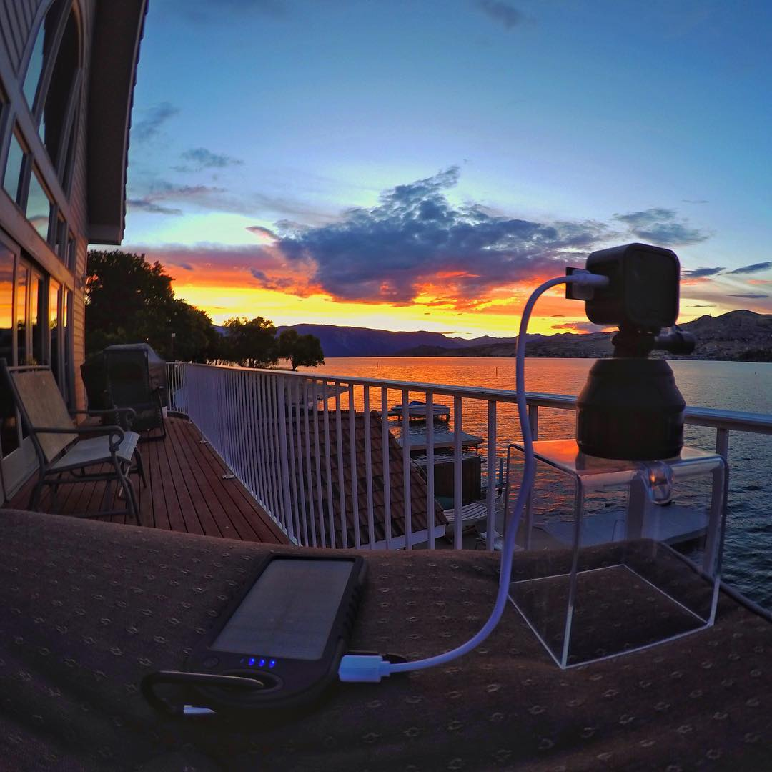 @noah_wallace capturing a sunset time-lapse with GoPro HERO Session, GoPole Scenelapse and Dualcharge. #gopro #herosession #gopole #scenelapse #dualcharge #timelapse #sunset