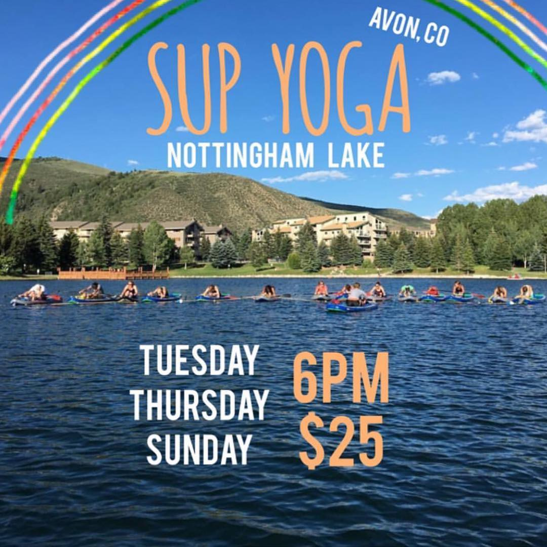 It beautiful out! Join our Hala Gear Yogi @yoga_snow_love Tuesday, Thursday, and Sunday at 6pm at Nottingham Lake, in Avon CO.  #halagear #adventuredesigned #paddlewithfriends #isup #inflatable #standuppaddle #paddleboarding #suplifestyle #adventurers...