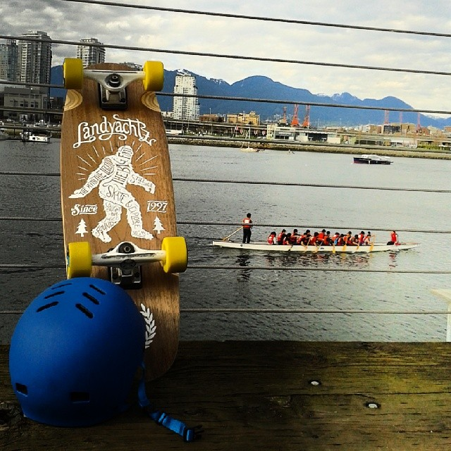 It was so nice out today we decided to get out of the office a bit early and go for a cruise on the #seawall to watch some #dragonboat racing in False Creek. The new XS/SM sized #FR7 #certified fits some of our small sized domes nicely.