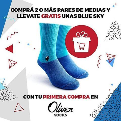 ¡No te quedes sin aprovechar la#Promo! Con tu primera compra de 2 o más pares de medias en Oliver Socks llevate unas Blue Sky REGALO.  Ingresá ahora estés donde estés a...
