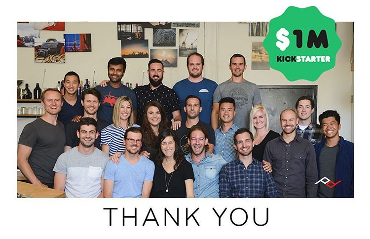 WELL SHUCKS, GUYS. A million bucks in the first 24 hours. A huge thanks from all of us to all of you! We've got 59 more days of fun in store, and lots to share with the world, so stay tuned. #pdkickstarter16 #findyourpeak