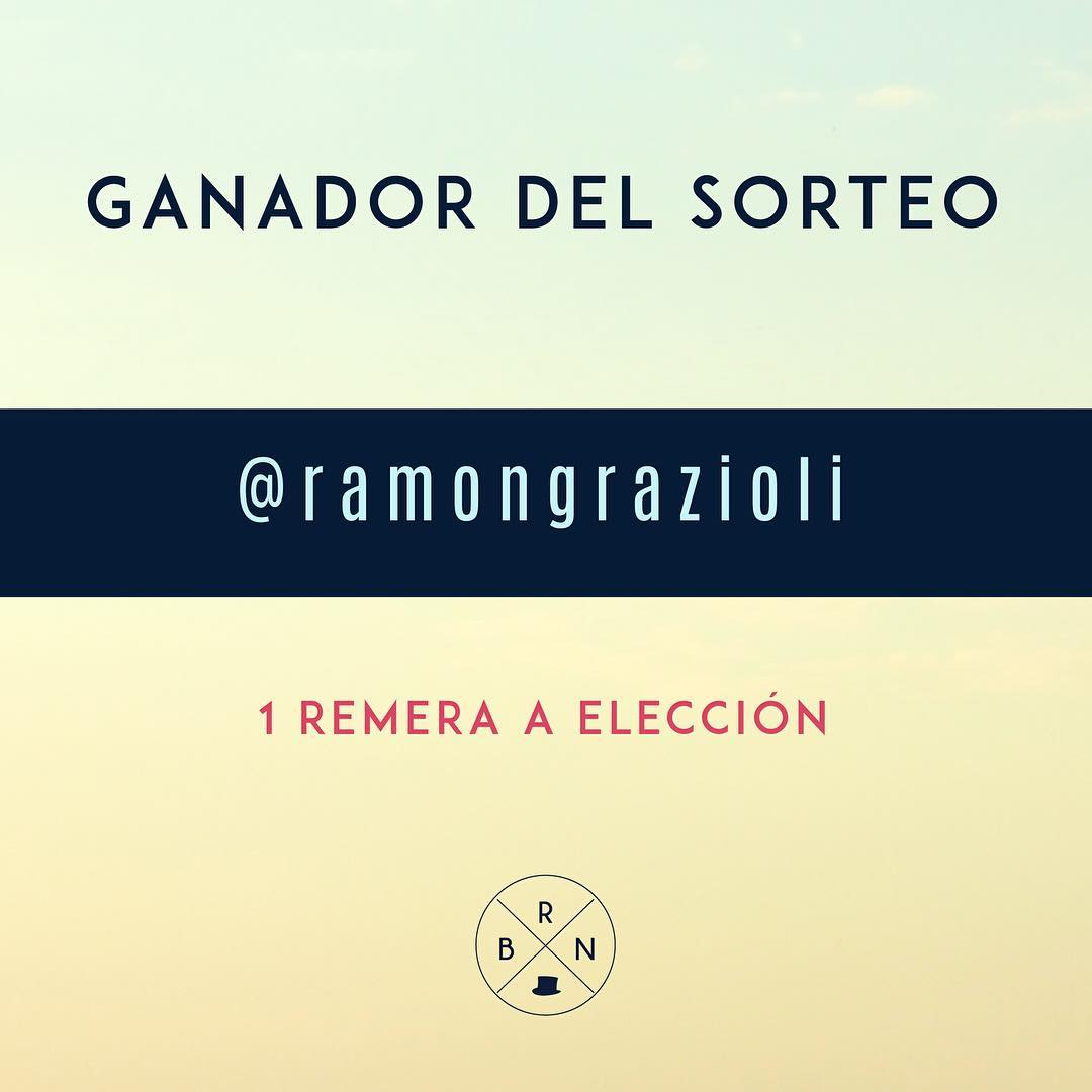 Ganador del Sorteo @ramongrazioli - Mandanos mensaje Privado