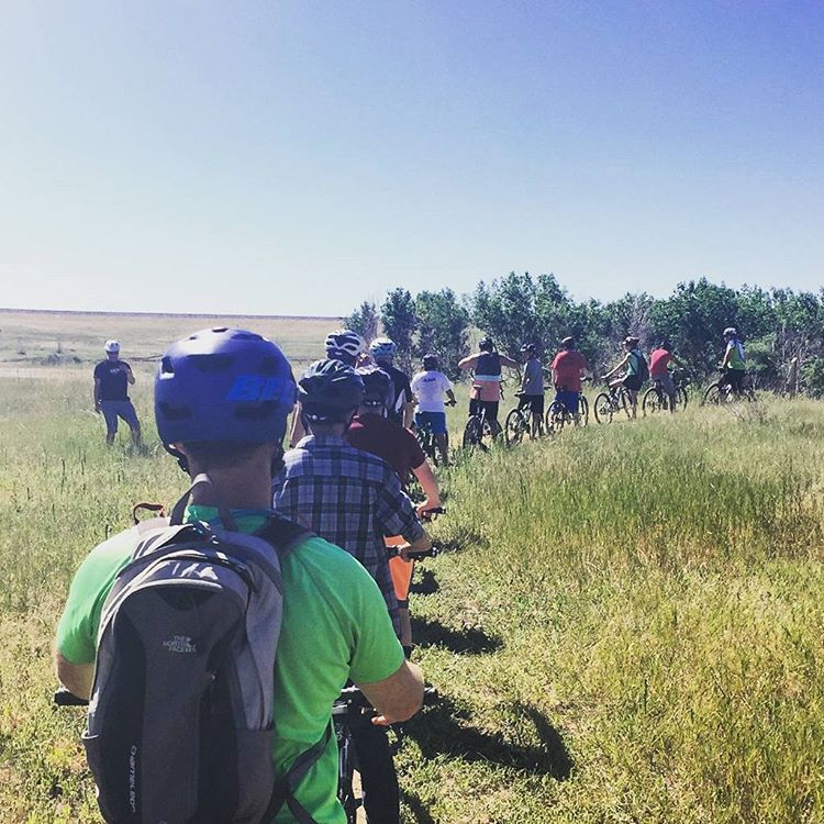 #Awesome day #mtnbiking with @tripsforkidsdenver !