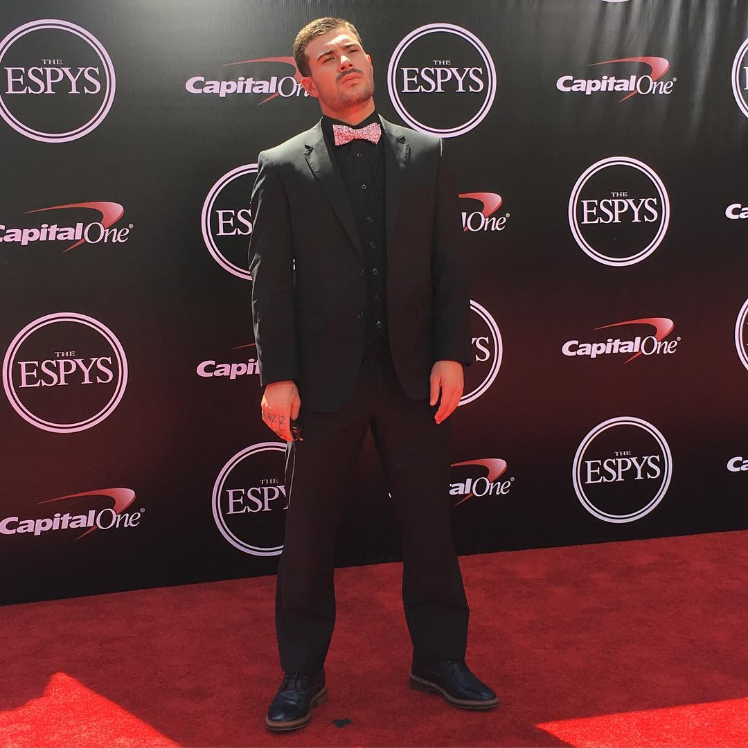 Six-time ❌ Games gold medalist @PedroBarrosSK8 has arrived on the #ESPYS red carpet!