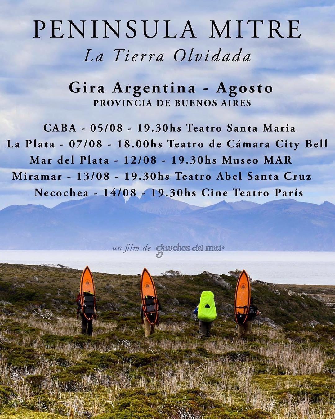 Gira de Peninsula Mitre en la Provincia de Buenos Aires. Se agregó una fecha en Miramar!! Entradas a la venta para todas las funciones: http://www.eventbrite.com.ar/o/gauchos-del-mar-10801890621  @marthaheadwear @patagonia.arg @reefargentina...