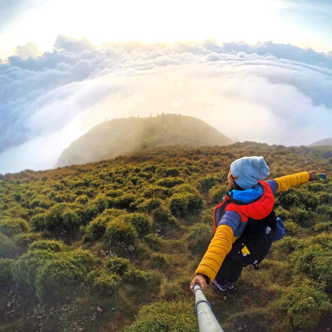 @jacqueaeiouh hikes above the clouds on top of Mount Pulag in the Philippines. GoPro HERO4 | GoPole Reach #gopro #gopole #gopolereach #hiking #mountpulag