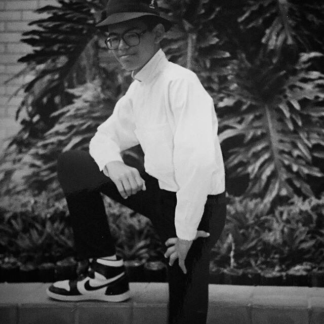 @monsterd72 With Air Jordans, a Kangol Casual and maybe some Cazal glasses. Can't tell if its #tbt or a current editorial piece.