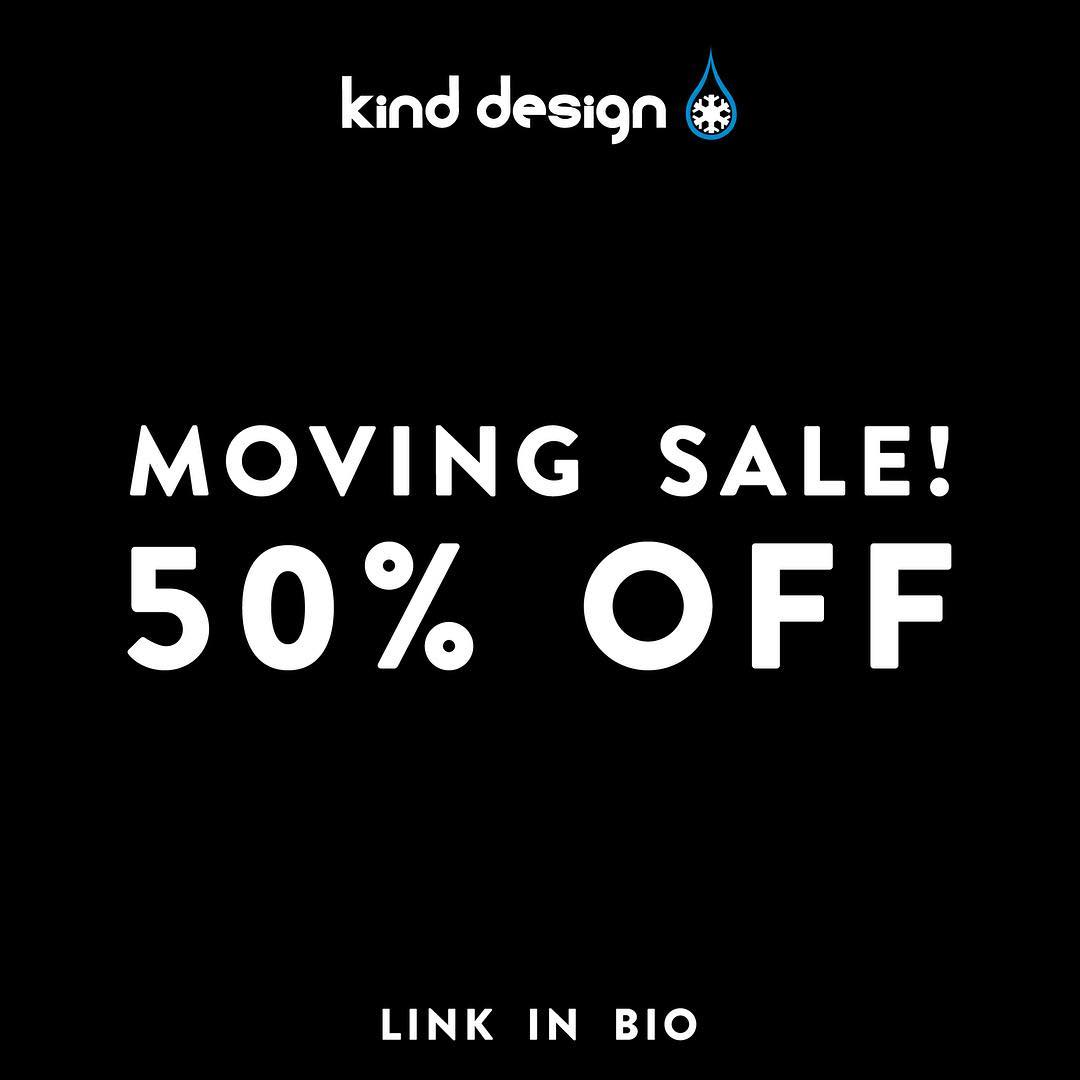 HUGE NEWS... we are opening our first retail space in downtown Boulder!  To lighten the move, we are offering 50% off our best selling products.  Link in our bio to see the best deals we have ever offered.  #kinddesign #boulder #colorado #sale #bekind...