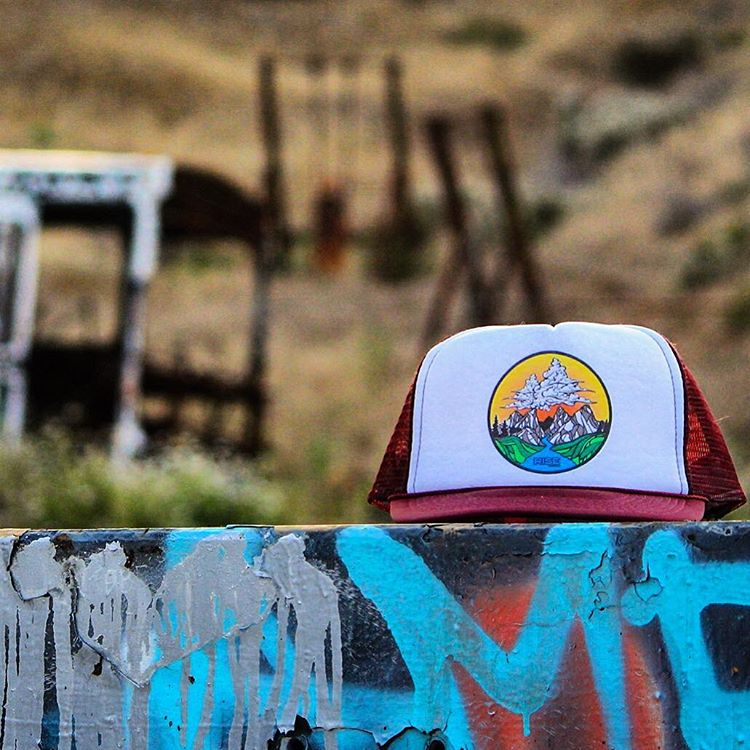 Trucker hat of the day. #risedesigns  #risedesignstahoe #inspiredbynature  Where does your hat take you?