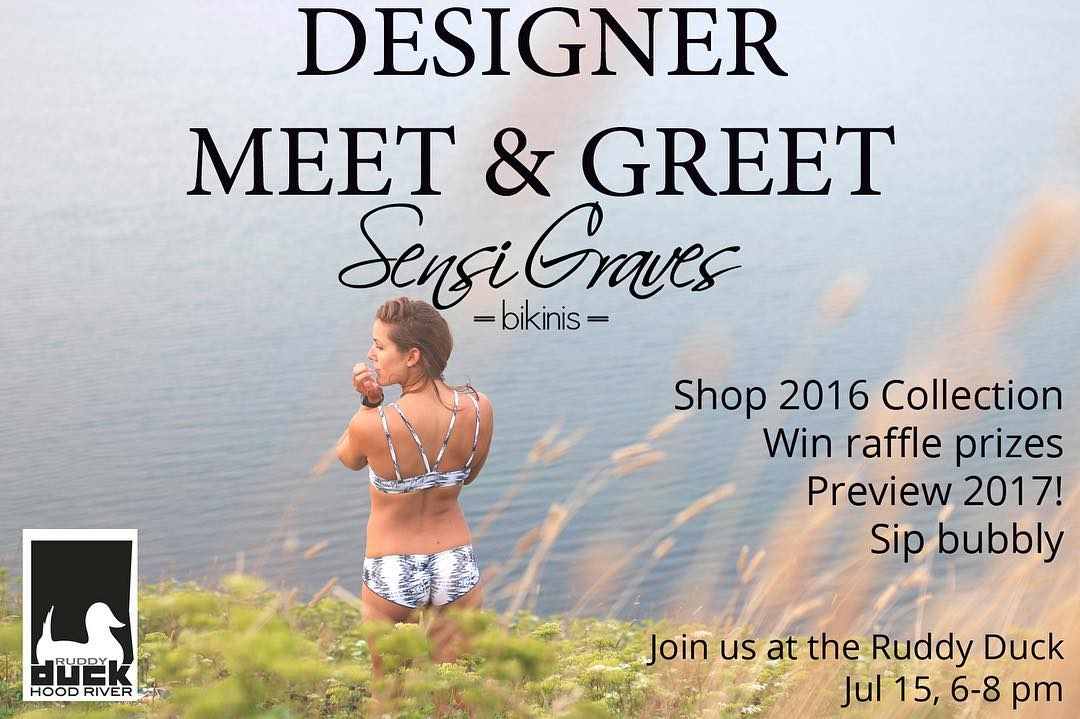 Want to come sip bubbly, win awesome prizes and shop awesome bikinis? We're bringing the entire 2016 collection down to @theruddyduck tomorrow. Hope to see you there!!