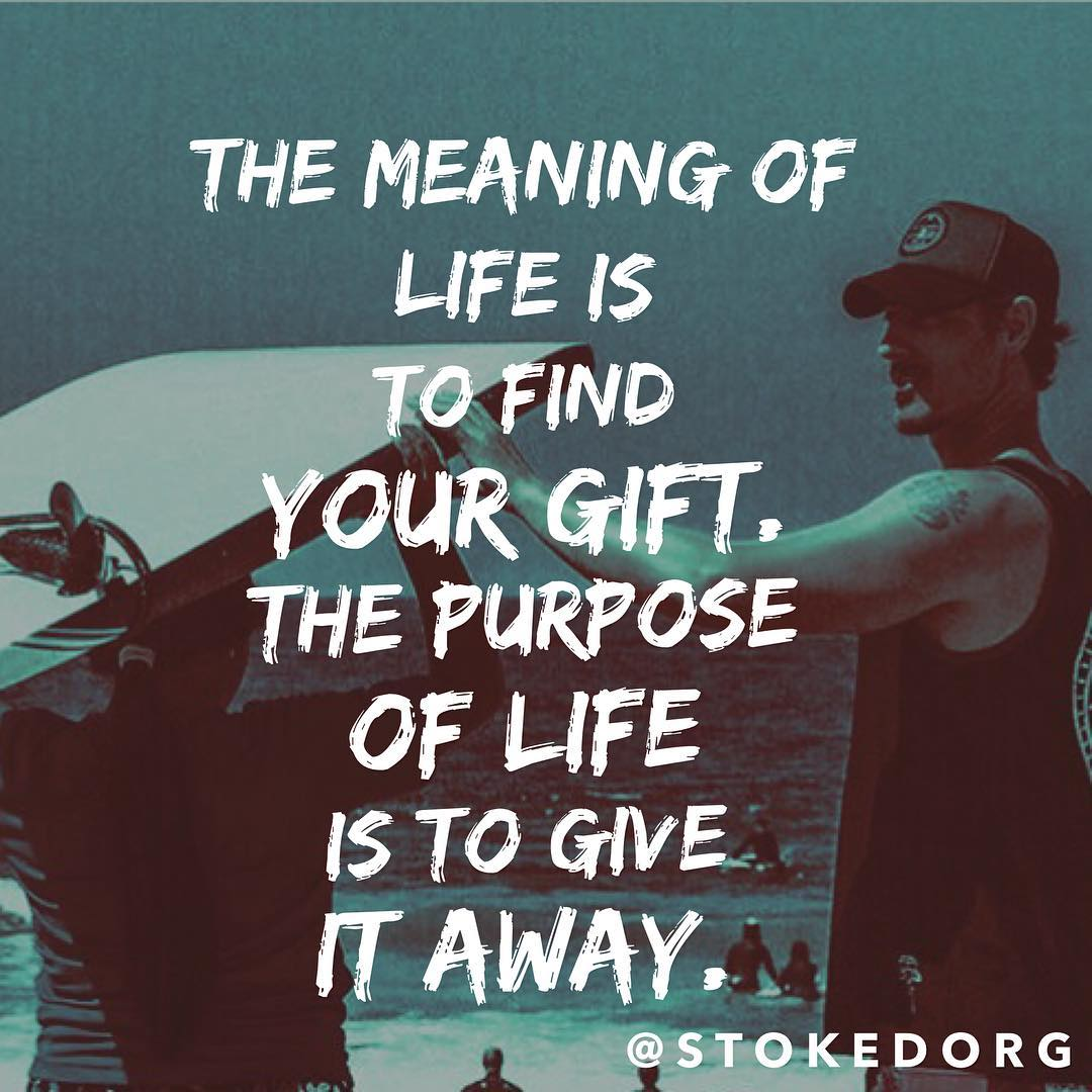 The meaning of life is to find your gift. The purpose of life is to give it away. -Pablo Picasso. Inspired by @erikdawson_erok -- photo from our supporter @ericbalfour from our #surfmentorla program with partner @stokeshare! Find your gift and give it...
