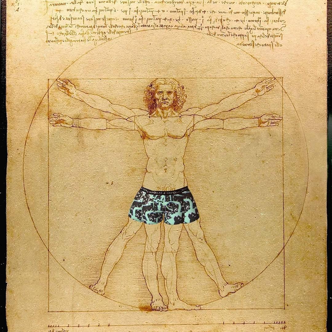 Leo da Vinci predijo este fenómeno GILIPOLLAS ® #HombredeVitruvio #underwear #coolboxer #davinci #art #yaestabaescrito #predicciones #Gilipollas #man #hombre #arte #instart