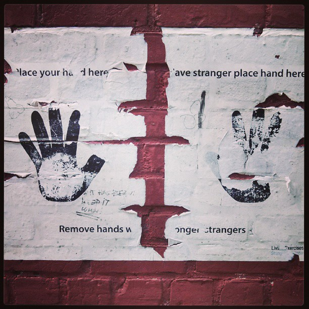 Remove hands when you are no longer strangers