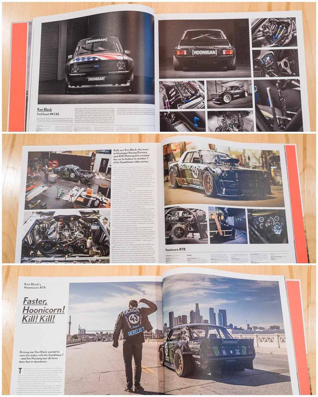 "Here's a peek at some of the awesomeness inside the features of the Hoonicorn and Gymkhana Escort in ""The Drive: Custom Cars and Their Builders"". The are many, many other rad builds in this book too - including two belonging to @TheHoonigans' Brand..."